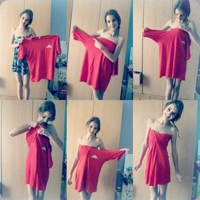 Как сделать из футболки