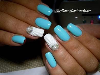 Дизайн ракушки на ногтях фото