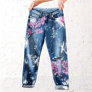 Рисовать на джинсах