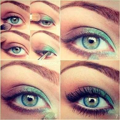 Макияж для зеленых глаз пошаговое рыжих
