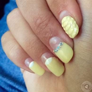 фото нарощенных ногтей квадратной формы одним цветом