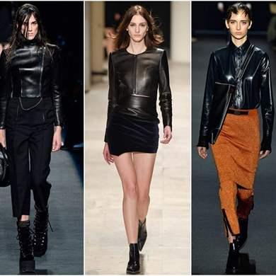 кожаные куртки черные женские фото