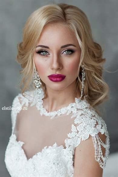 Макияж невесте блондинке фото