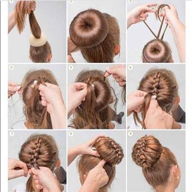 Причёски для девочки в домашних условиях своими руками