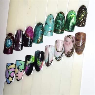 Дизайн ногтей эффект натурального камня