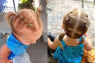 Причёски для самых маленьких девочек на короткие волосы пошагово