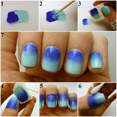Как покрасит ногти красиво в домашних условиях