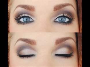 Свадебный макияж для голубых глаз на свадьбу невесте с фото и