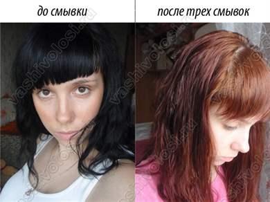 Как смыть черную краску с волос в домашних