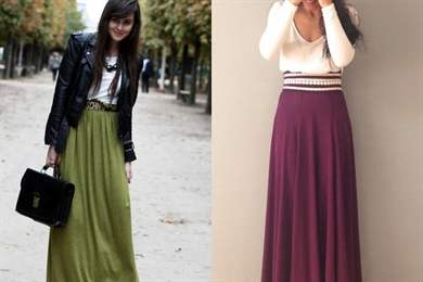 Длинные юбки и платья 2017