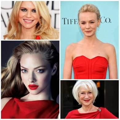 Маникюр и макияж к красному платью
