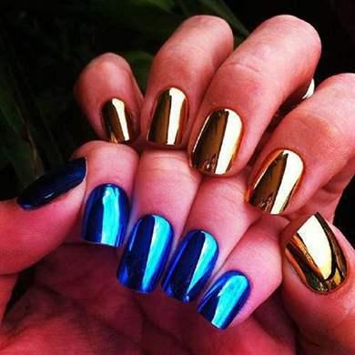 Ногти гель лак металлик