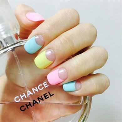 Pastel nail polish designs
