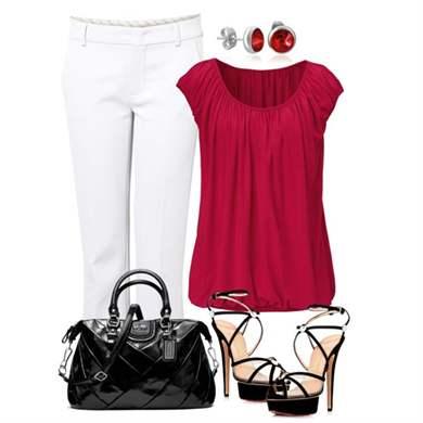 Туфли Белые И Блузка