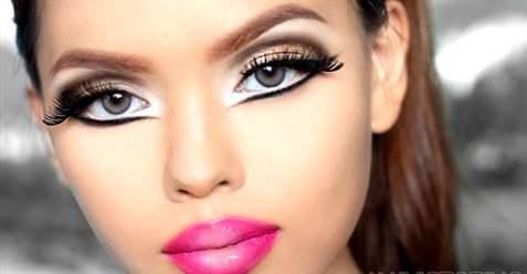 Фото глаз кукольного макияжа