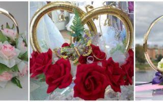 Свадебные кольца на машину: фото примеры, пошаговая инструкция как сделать
