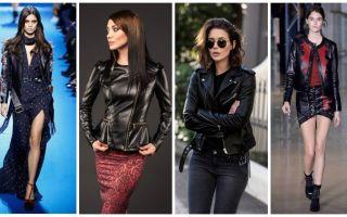 Женские кожаные куртки 2019: фото модных тенденций, актуальные новинки сезона