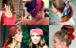 Как носить платок на голове: фото-примеры, инструкции как завязывать