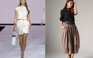 С чем носить юбку баллон: фото примеры, с чем сочетать