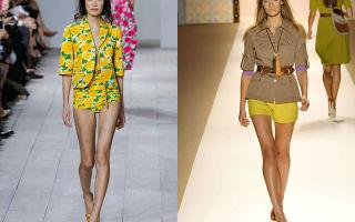 С чем носить желтые шорты: фото модных луков, как сочетать с одеждой и аксессуарами