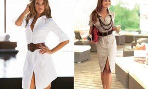 С чем носить платье-рубашку разных фасонов: подбираем обувь и аксессуары