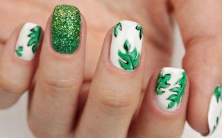 Маникюр с листьями: фото примеры, как нарисовать в домашних условиях