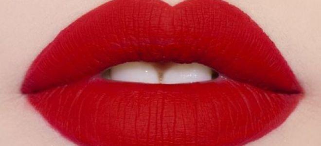 Красная матовая помада: как подобрать и правильно накрасить губы