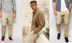 С чем носить мужские бежевые брюки. Как подобрать обувь к ним