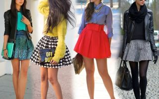 С чем носить короткую юбку: фото примеры, как сочетать с верхом и обувью