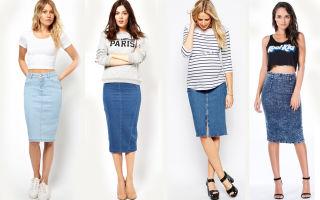 Джинсовая юбка с чем носить и модные советы