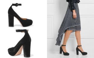Туфли с ремешком вокруг щиколотки: как их носить и с чем сочетать, фото подборка