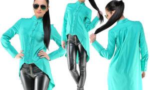 Блузки длинные сзади и короткие спереди — фото образов, которые можно создать