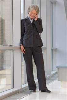 Businesswoman in an office building