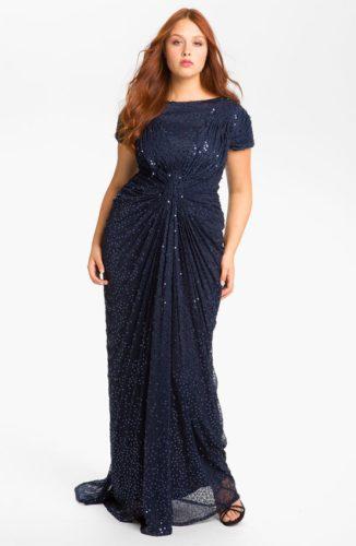 af17568079c Очень облегающие платья из тонких тканей — не лучший выбор для полных  женщин. Такой наряд подчеркнет все недостатки фигуры. Вечерние наряды с  большим ...