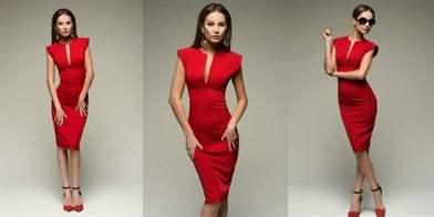 a0127ae90ba С какими колготками носить  Классическим вариантом комбинации красного  платья ...