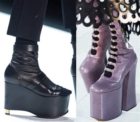 f940d031c Модная платформа 2019: фото новинок обуви, актуальных в сезоне осень ...
