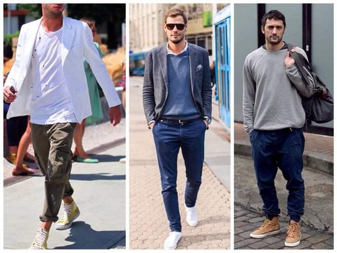 какие кроссовки под брюки мужские
