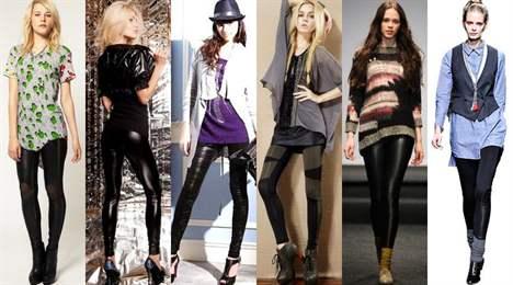 с чем носить чёрные лосины фото 2016