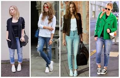 48910afc С чем носить кроссовки: фото модных образов и комплектов одежды с ...