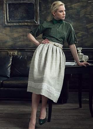 1d12e50b6687174 С чем сочетать? Чтобы всегда выглядеть модно и стильно в юбке из льна ...