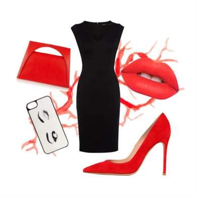 Фото красные туфли на каблуке