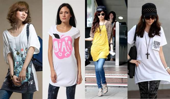 bcf1ddad14fbb С ними можно создать множество интересных и стильных образов. Эта статья  для тех, кто не знает, с чем носить и сочетать длинную футболку или хочет  найти ...